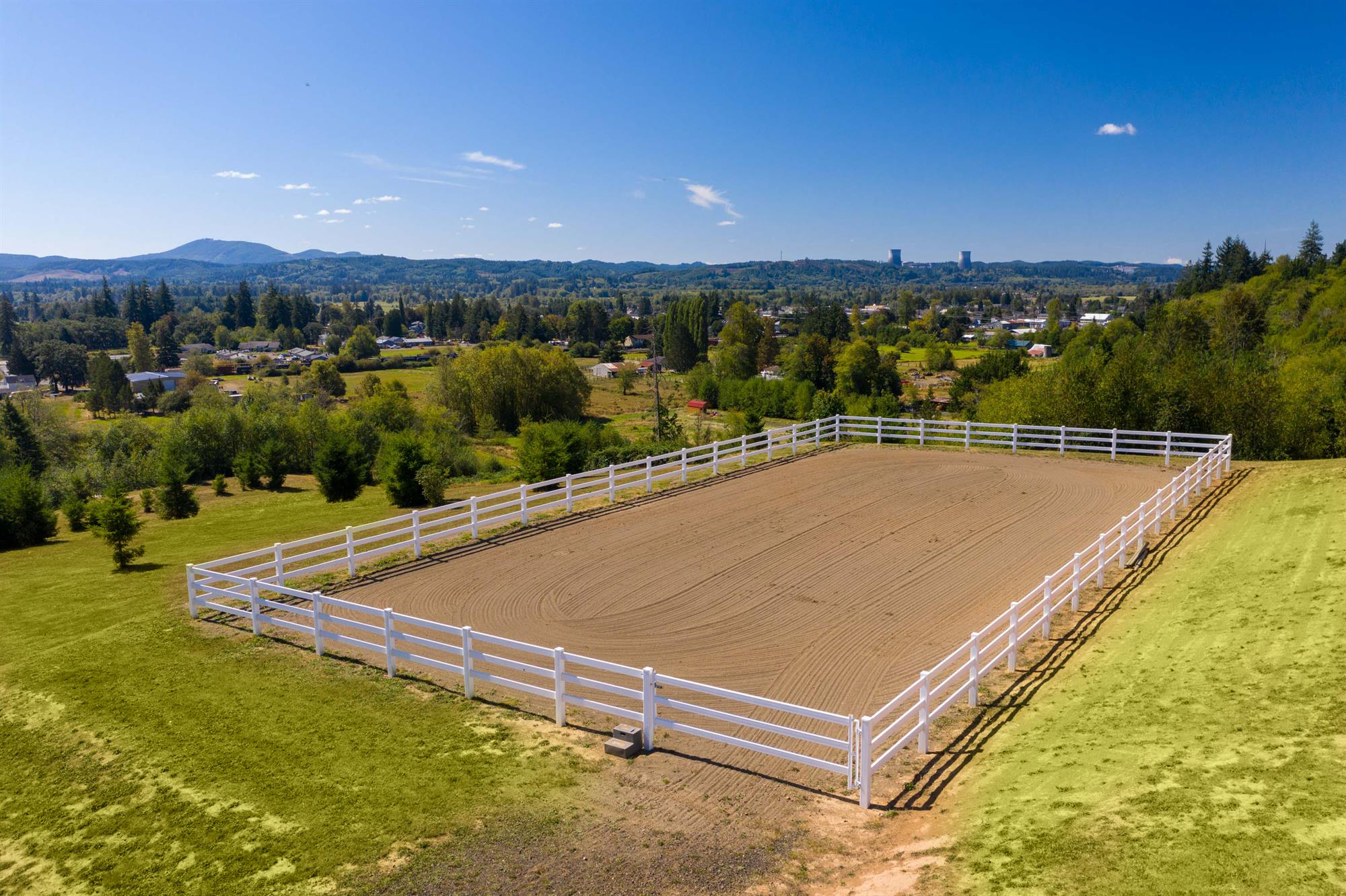 60' x 120' outdoor arena with custom footing