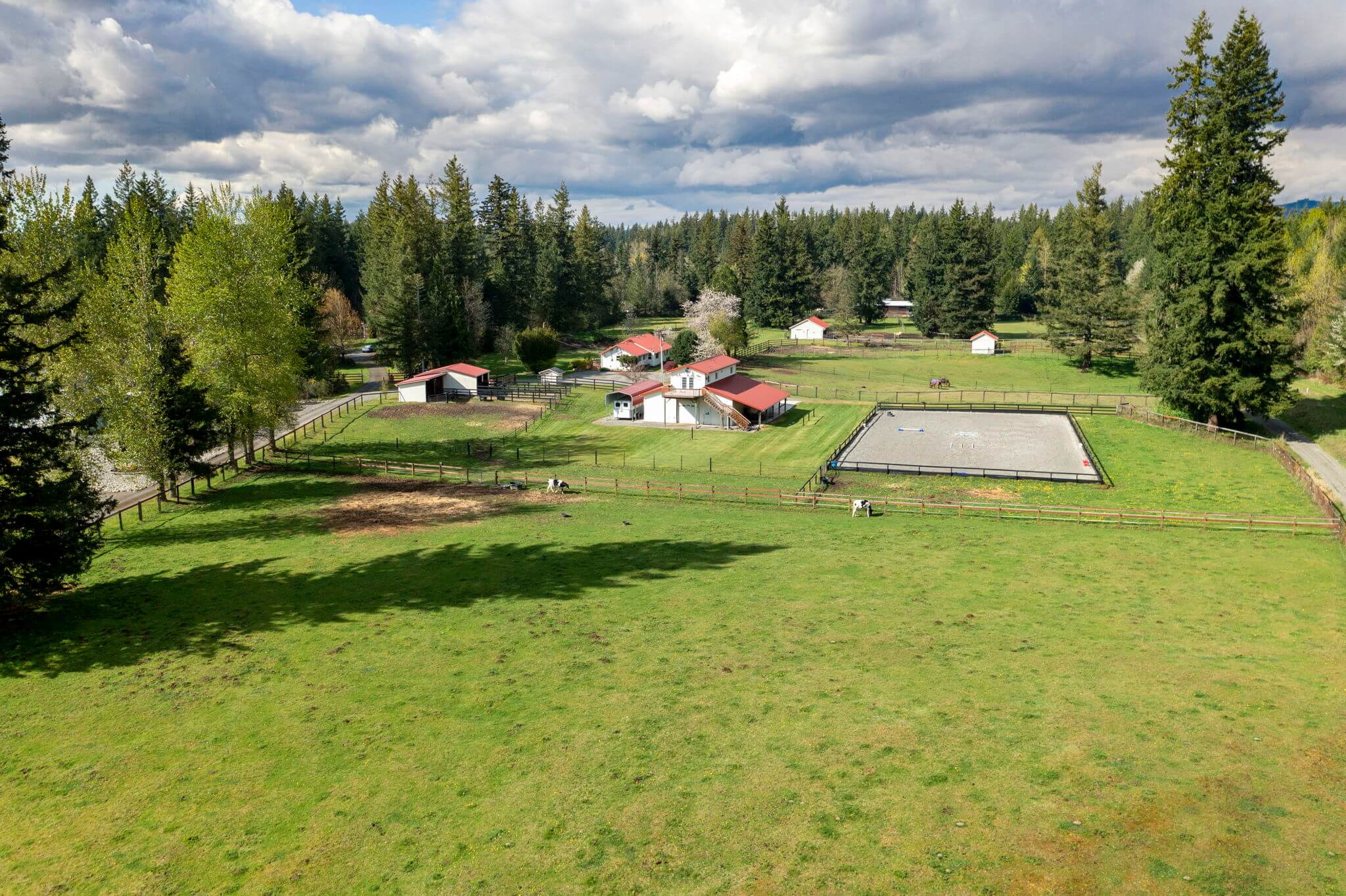 Seven separate pastures with plenty of room for grazing
